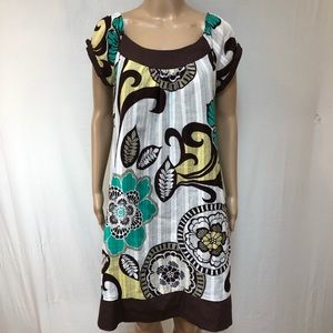 RB Collections New York dress Sz 10 Midi Floral